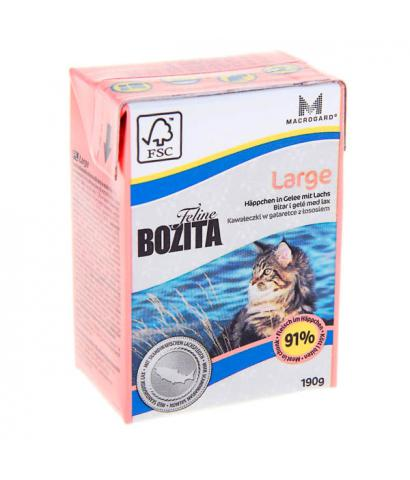 Корм для кошек Bozita Feline Large — Chunks in Jelly with Salmon