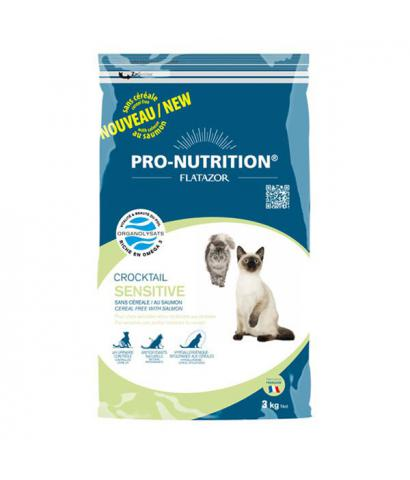 Корм для кошек Flatazor Pro-Nutrition Crocktail Adult Cat Sensitive Cereal Free Salmon