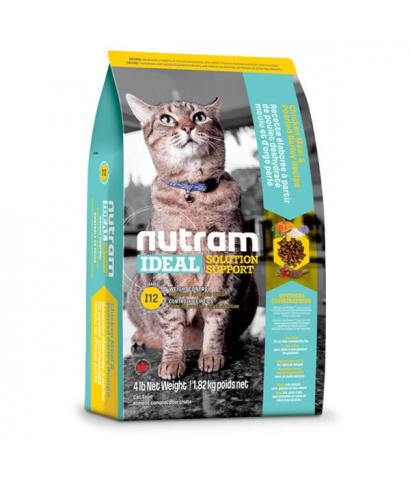 Корм для кошек Nutram Ideal Solution Support® I12 Weight Control Cat Chicken, Pearled Barley & Split Pea