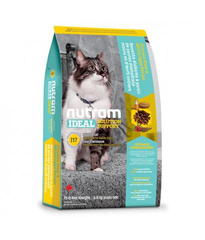 Корм для кошек Nutram Ideal Solution Support® I17 Indoor Cat Chicken, Rolled Oats & Whole Eggs
