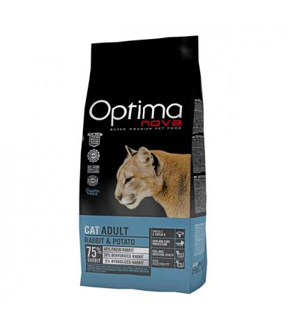 Корм для кошек Optima Nova Adult Cat Rabbit & Potato Grain Free, Hypoallergenic