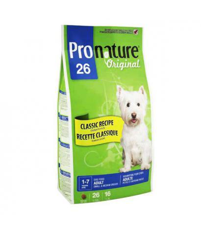 Pronature Original 26 Dog – Adult Small & Medium Breeds Chicken