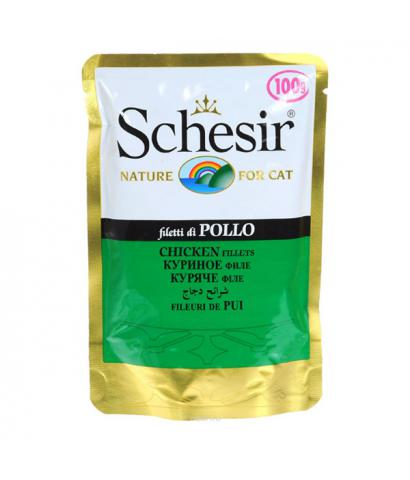 Корм для кошек Schesir Cat Filetti di Pollo
