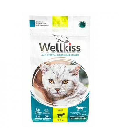 Корм для кошек Wellkiss Cat Sterilized Lamb