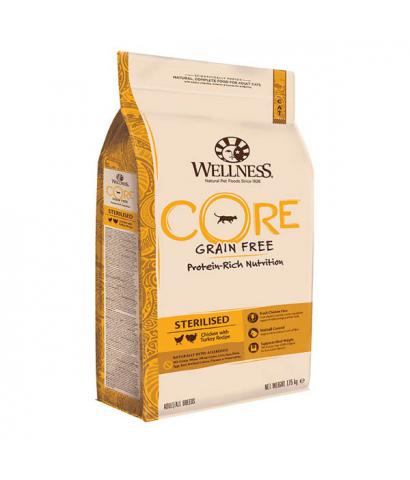 Корм для кошек Wellness Core Adult Cat Sterilised Chicken with Turkey Grain Free Hypoallergenic