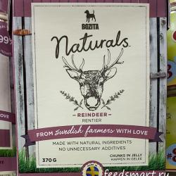 Bozita Naturals Dog Reindeer Chunks in Jelly
