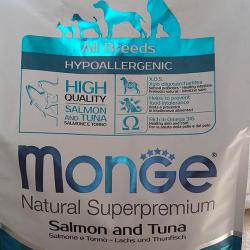 Фото Monge Speciality Adult Dog All Breeds Salmon & Tuna Hypoallergenic