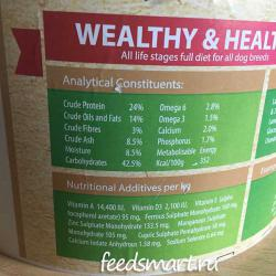 Фото этикетки корма Wealthy & Healthy — Be Healthy! Lamb Grain Free